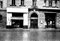 Siegmund Kornmehl's butcher shop in Sigmund Freud's building