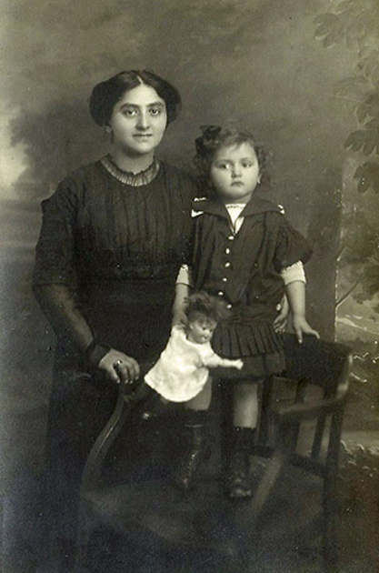 My grandmother and my mother, ca. 1915