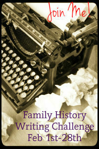 Family History Writing Challenge, Day 1: The Plan
