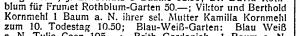 Listings in Die Stimme, 1930