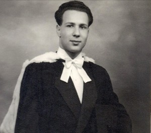 Erwin Schmerling, Cambridge graduation, 1950