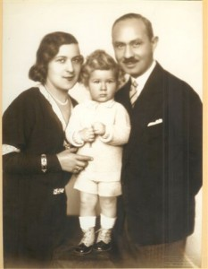 Erwin, age 3, with mother Lily and father Heinrich Schmerling