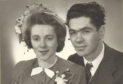 Joyce and Herbert Bratspies, August 29, 1949