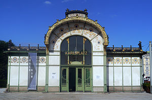 Vienna's Karlplatz Station, designed by Otto Wagner (did I mention I love public transportation)