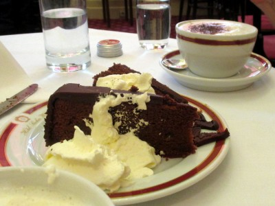 The cake at Cafe Sacher