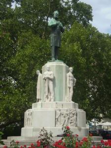 Karl Lueger statue in Karl Lueger Plaza