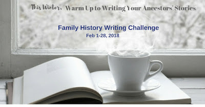 It's the Quinquennial Family History Writing Challenge!