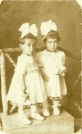 Twins Edith & Hermine Schmerling, age one and a half, Vienna