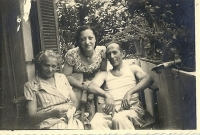 Mitzi Schmerling, Stella and Theo Loewinger, Tel Aviv 1951