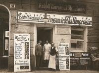 Rudolf Kornmehl's nonkosher butcher shop