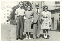 Erwin, Lilly, Heinrich and Flora Schmerling, Zurich, 1948