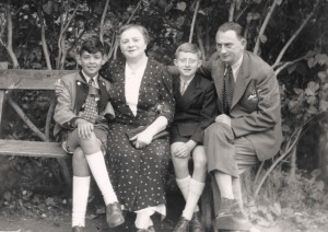 Herbert Bratspies (Lilly's son), Flora Kornmehl, Bruno Kornmehl-Obendorfer & Hans Kornmehl