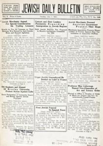 Jewish Daily Bulletin