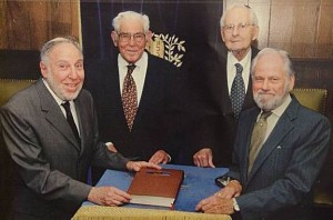 The four founders: Neil Leibman, Leo Levin, Eric Korngold, and Leon Korngold. Picture taken circa 1999.