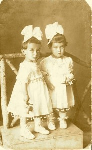 Edith and Hermine Schmerling, my mother's first cousins, age 1 1/2