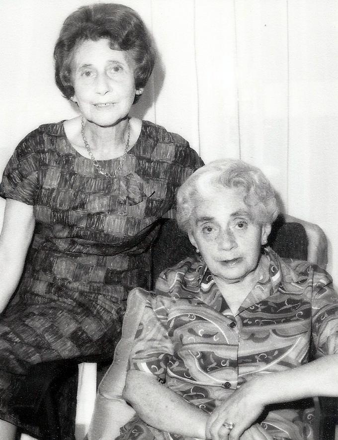 Emmy Kornmehl Fellner and Lilly Kormehl Bratspies, Melbourne, 1970s