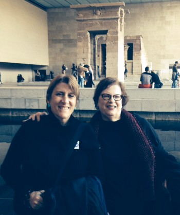Sharon and me at the Temple of Dendur. We stopped long enough to get a picture taken.