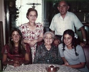 Clockwise: Me, Stella Schmerling Loewinger, Fritz Braun (Jarolim), Andrea, Mitzi Schmerling