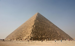 The pyramid at Giza; not built by the Jews or even ordered by Ramses