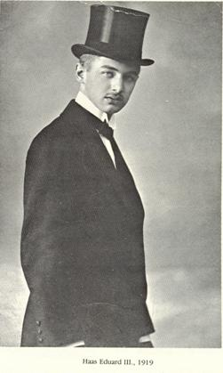 Eduard Haas III, founder of Pez, 1919