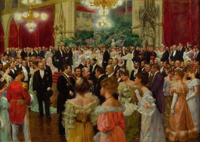 Karl Lueger at a ball in Vienna City Hall 1904, by Wilhelm Gause, Historical Museum of the City of Vienna, via Wikimedia Commons