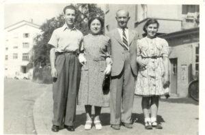 Erwin, Lilly, Heinrich and Flora Schmerling, Zurich, 1948