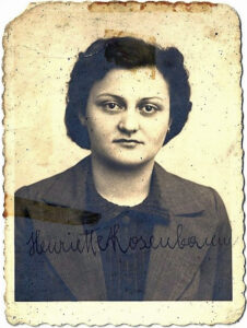 My mother's passport picture, 1938 or 1939